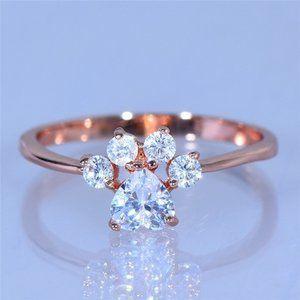 princess rose gold ring